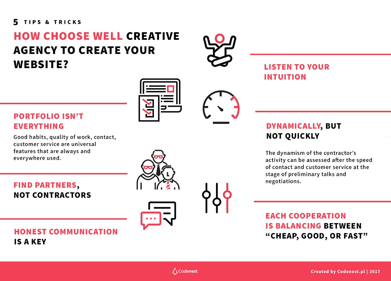 How to choose best web agency Infographic